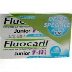 Fluocaril - Dentifrice Enfant Junior 7-12 ans Bubble Gum - 2x50 ml