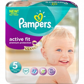Pampers - Couches Active Fit taille 5 (11 à 25 kg) paquet de 22 couches