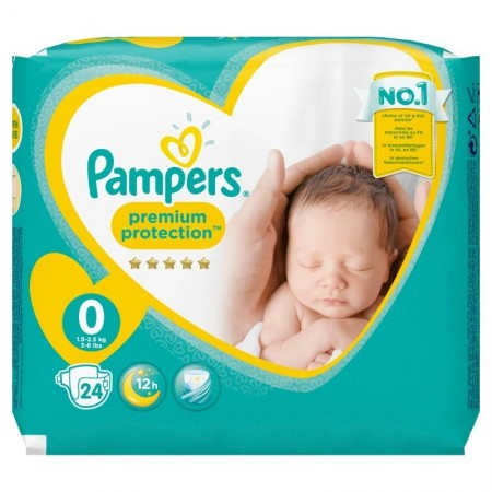 Pampers - Couches New Baby Micro de 1 à 2,5 kg sac de 24 couches
