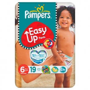 Pampers - Couches Easy-up taille 6 (+16 kg) paquet de 19 couches