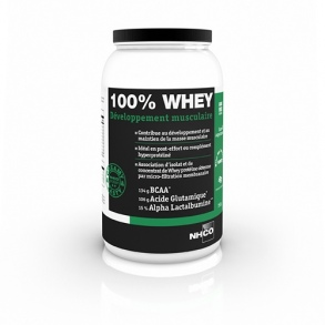 NHCO Nutrition - 100% WHEY Développement musculaire Saveur Chocolat - 750g