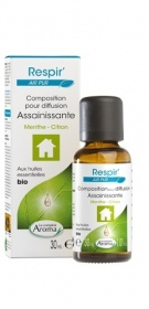 Illustration Composition Respir' Air pur menthe - citron - 30ml