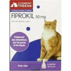 Clement Thekan - Fiprokil Chat  - Etui 4 pipette 0.50ml