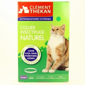 Clement Thekan - Collier Insectifuge Naturel -  Chat