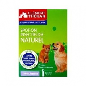 Clement Thekan - Spot-on insectifuge naturel chiot, chaton - 4pipettes