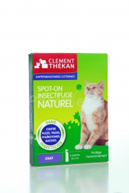 Clement Thekan - Spot-on insectifuge naturel chat - 4pipettes
