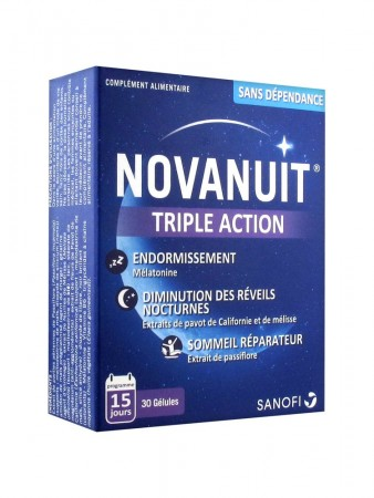 Sanofi France - Novanuit triple action - 30 gélules