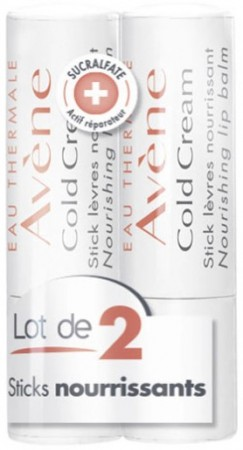 Avène - Cold Cream Stick lèvres - 2x4 g (Lot de 2)