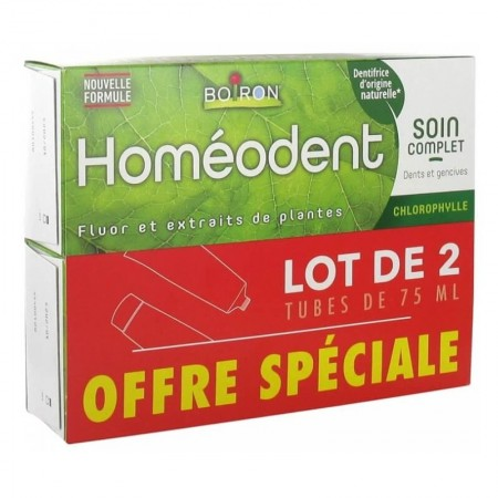 Illustration Homéodent - Dentifrice Soin complet dents et gencives - Chlorophylle - lot de 2x75ml