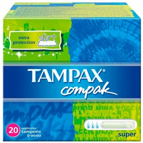 Illustration Tampax Compak Super - 20 Tampons