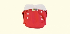 Babywiz  - Couche lavable Wiz In One Rouge