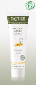 Cattier - Masque Argile jaune Hamamélis bio - 100ml