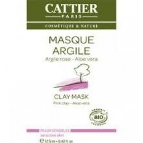 Illustration Masque Argile rose Aloe vera bio - 12 sachets unidose de12.5ml