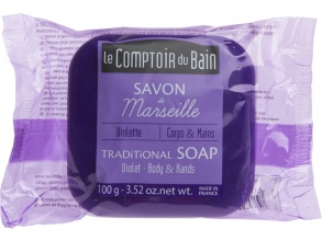 Illustration Savon de Marseille Violette 100 g