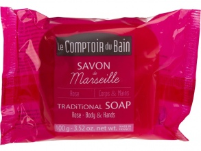 Illustration Savon de Marseille Rose 100 g
