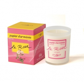 Illustration ARMENIE PAPIER BOUGIE AMBIANCE PARFUMEE ROSE