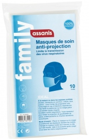 Assanis - Pochette de 10 masques anti-projection Assanis