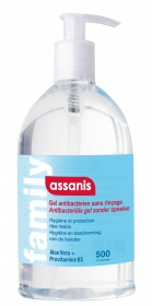 Assanis - GEL HYDROALCOOLIQUE 500ML