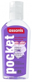 Assanis - Gel antibactérien Pocket parfum Violette - 80ML