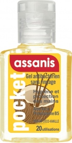 Assanis - Gel antibactérien Pocket parfum Vanille-Coco - 20ml