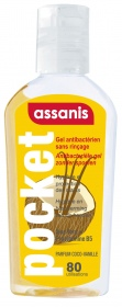 Assanis - Gel antibactérien Pocket parfum Vanille-Coco - 80ML