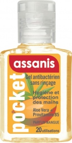 Assanis - Gel antibactérien Pocket parfum Mangue - 20ml