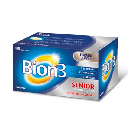 Illustration Bion 3 Seniors 90 Comprimés