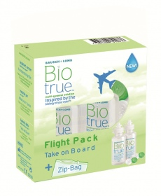 Chauvin Bausch & Lomb - Biotrue Flight Pack solution lentilles - 2 x 60 ml + Zip Bag