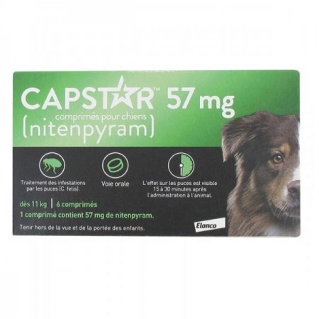 Illustration CAPSTAR 57MG COMPRIME 6 antipuces chien