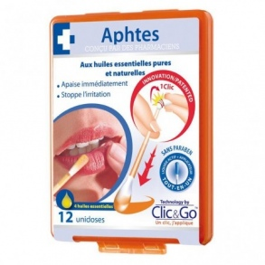 Biopharme - Clic & Go aphte solution buccale 12 unidoses