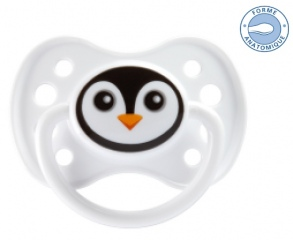 Illustration Sucette +6 mois Anatomique Silicone pingouin