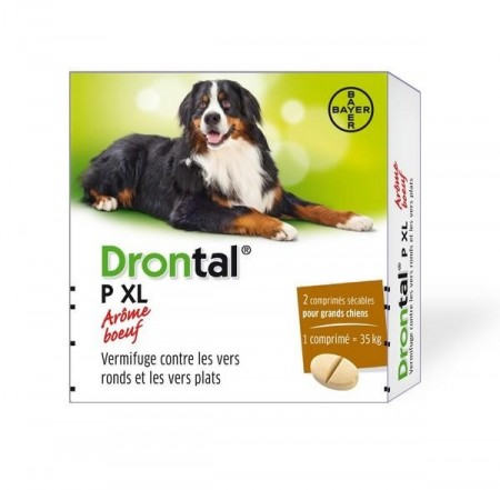 Illustration DRONTAL P XL BOEUF CHIEN COMPRIME 2 antiparasites