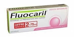 Fluocaril - FLUOCARIL DENTS SENSIBLES DENTIFRICE 75ML X2
