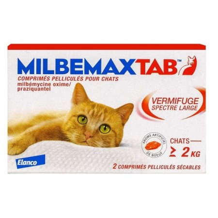 Illustration MILBEMAXTAB COMPRIME A CROQUER CHAT 2 vermifuge