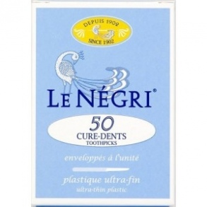 Le Négri - NEGRI CURE DENTS PLASTIQUE 50