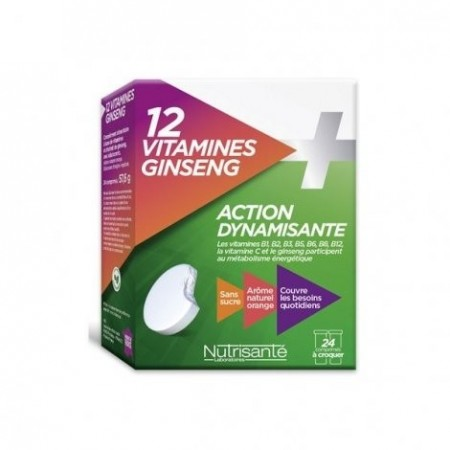 Illustration NUTRISANTE MULTIVITAMINE + GINSENG CPR CROQ 12 X2