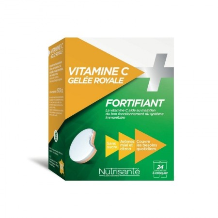 Illustration NUTRISANTE VITAMINE C + GELEE ROYALE CPR A CROQ 24