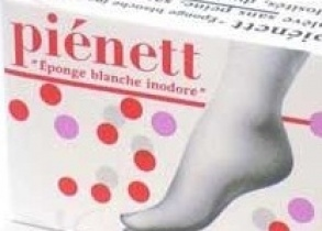 Illustration PIENETT EPONGE PEDICURE ABRASIVE BLANC