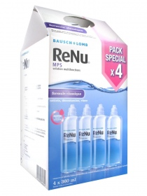 Bausch + Lomb Laboratoires Chauvin - RENU Multiplus solution multifonctions - 4 X 360ML