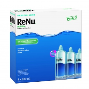 Bausch + Lomb Laboratoires Chauvin - Renu MultiPlus Solution multifonctions - 3 x 360 ml
