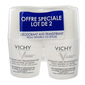 Illustration Déodorant anti-transpirant 48H roll-on pour peau sensible - lot de 2 x 50 ml