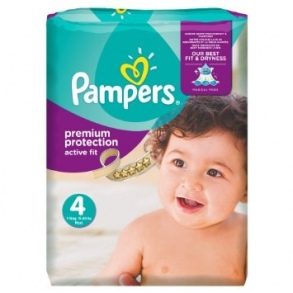 Pampers - Couches Active Fit  taille 4 (8 à 16 kg) paquet 22 couches