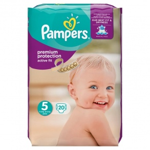 Pampers - Couches Active Fit taille 5 (11 à 23 kg) paquet de 20 couches