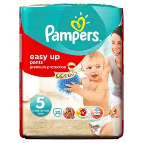 Pampers - Couches Easy-up taille 5 (12 à 18kg) paquet de 20 couches