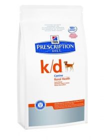 Illustration Prescription Diet Canine K/D 12 kg rénal croquettes chien