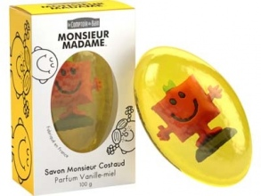 Illustration Savon Monsieur Costaud - Parfum Vanille - Miel 100 g