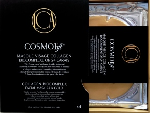 Cosmolift -  MASQUE VISAGE COLLAGEN BIOCOMPLEXE OR 24 CARATS - pack 4 masques