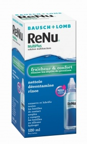 Bausch + Lomb Laboratoires Chauvin - Renu MultiPlus Solution multifonctions - 120 ml