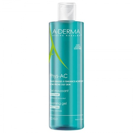 Aderma - A-Derma Phys-AC Gel Moussant Purifiant 400 ml