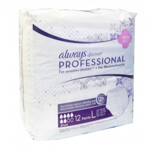 Illustration Always PLUS discreet Professional Taille L Paquet de 12 protections